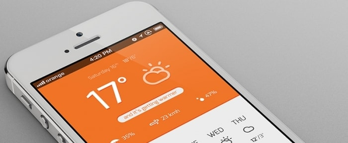 View Information about Flat Weather App