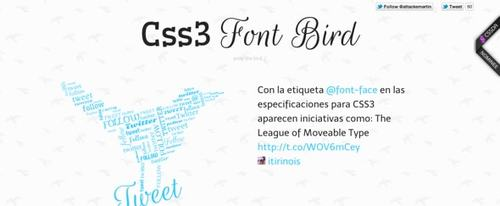 View Information about Font Bird