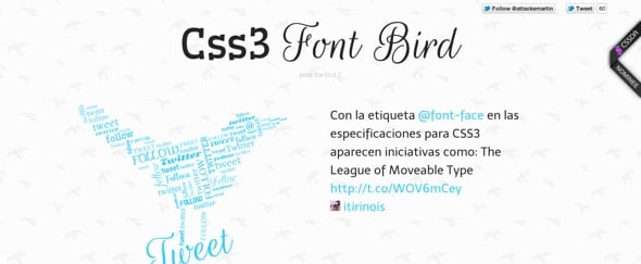 Design Inspiration: Font Bird