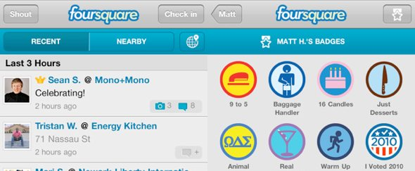 View Information about Foursquare for iPhone