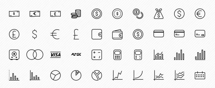 View Information about Business Icons