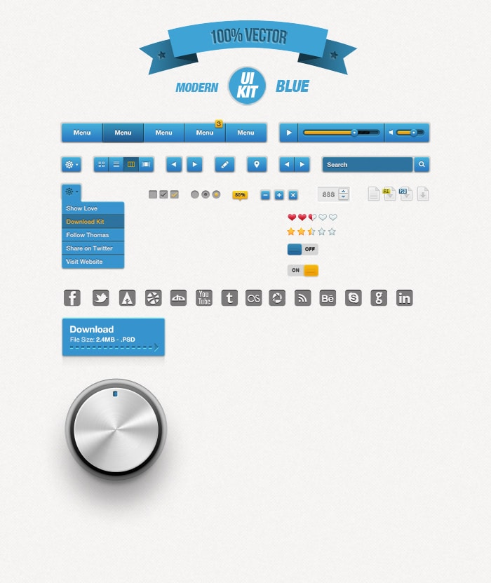Go To Modern Blue UI Kit