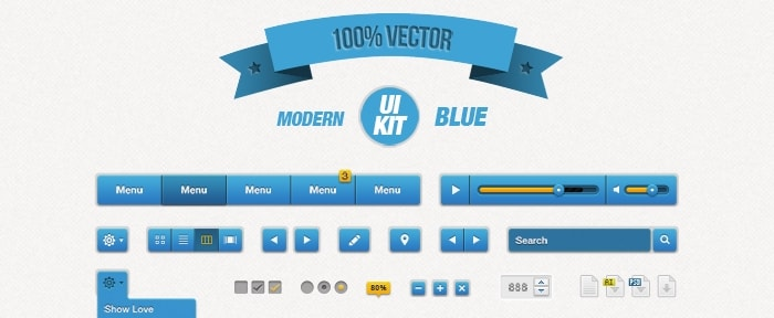 View Information about Modern Blue UI Kit