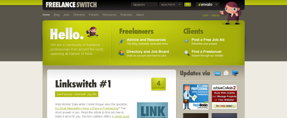 View Information about Freelance Switch
