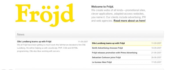 View Information about Frojd