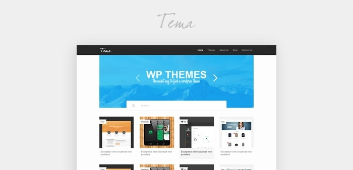Go To Gallery Theme PSD