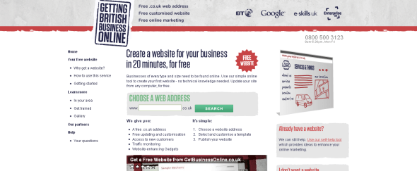 View Information about The Getting British Business Online