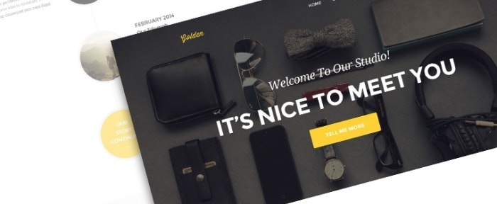 View Information about Golden PSD Theme