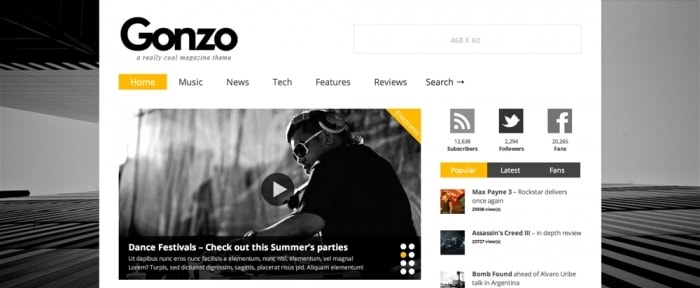 View Information about Gonzo Magazine