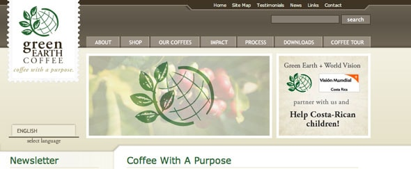 View Information about Green Earth Coffee