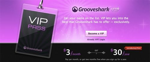 View Information about Grooveshark VIP