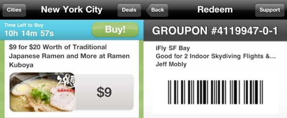 View Information about Groupon for iPhone