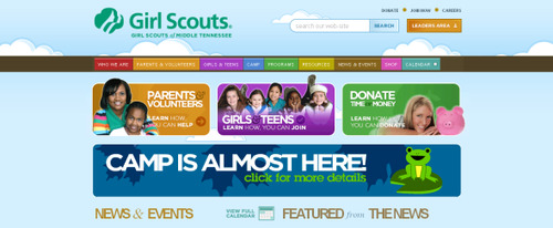 View Information about Girl Scouts