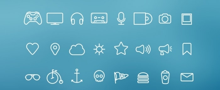 View Information about Hangloose Thin Line Icon Set