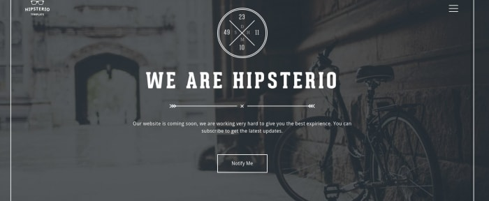 View Information about Hipsterio Template