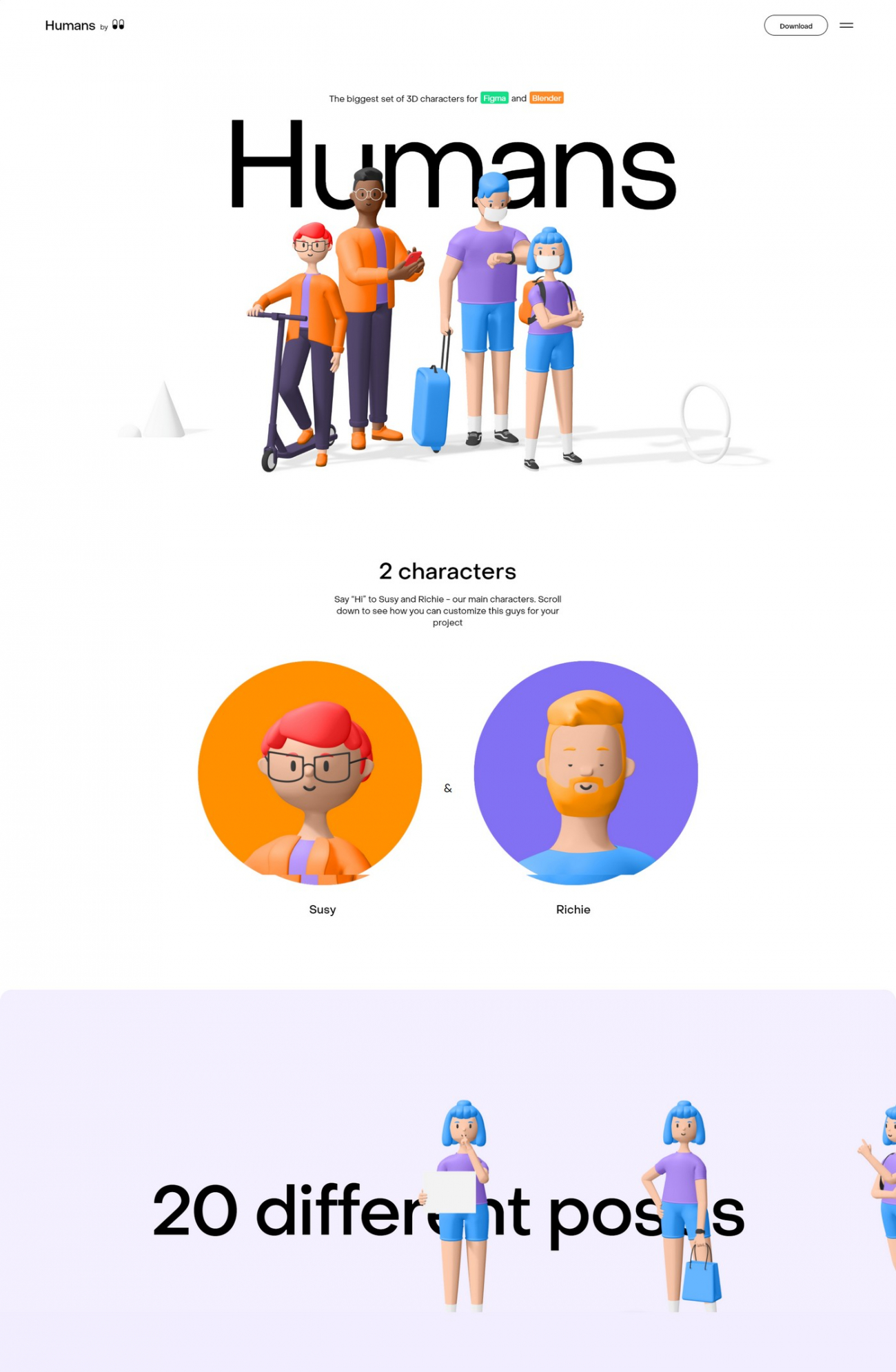 Go To Humans 3D Character Pack