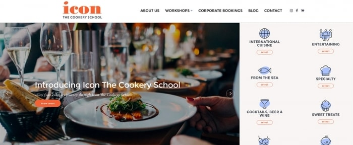 View Information about Icon The Cookery School