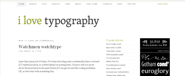 Go To I Love Typography