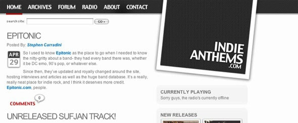 View Information about Indie Anthems