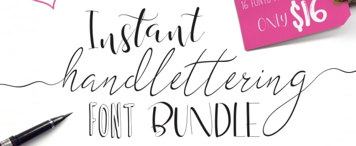 View Information about Hand Lettering Font Bundle