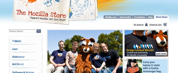View Information about Mozilla Store