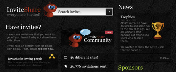 View Information about Invite Share