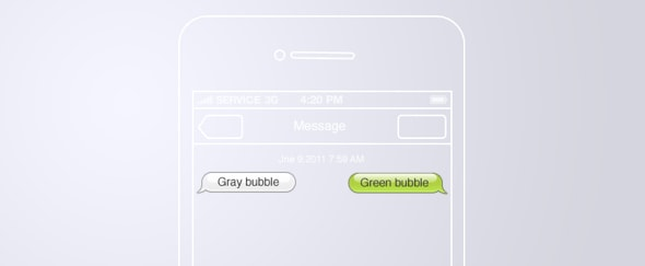 View Information about iOS 5 Message Bubbles