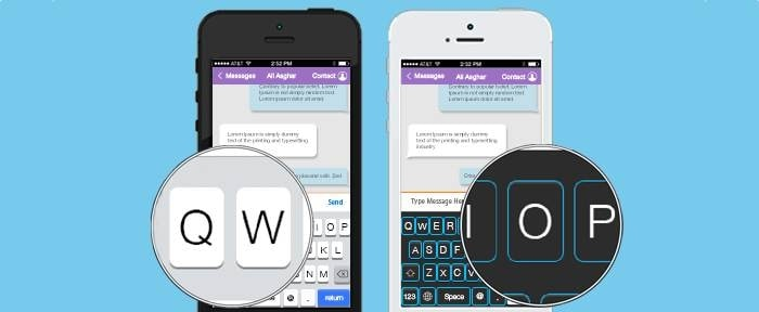 View Information about iOS Keyboard Vector