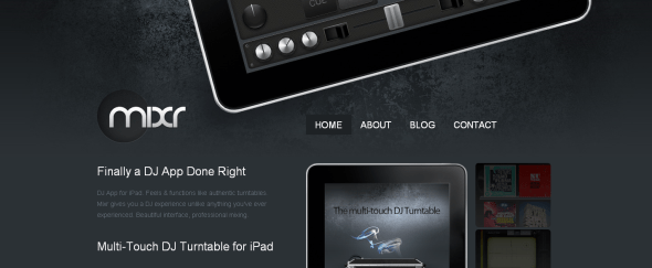 View Information about iPad DJ App