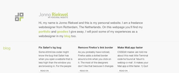 View Information about Jonno Riekwel