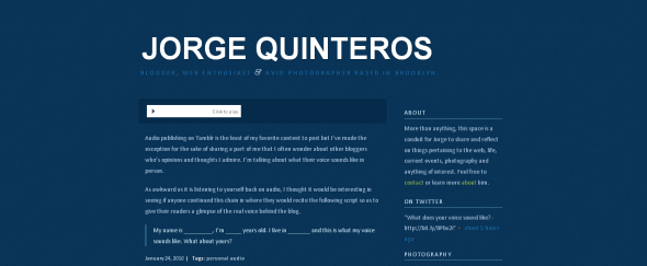 View Information about Jorge Quinteros