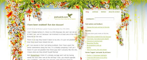 View Information about Joshuaink