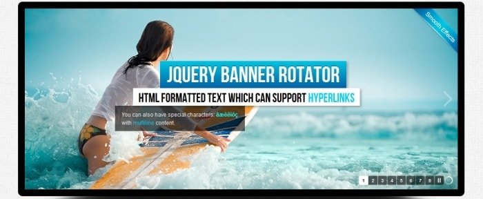 View Information about jQuery Banner Rotator