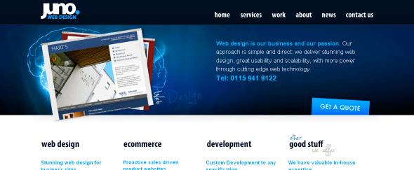 View Information about Juno Web Design