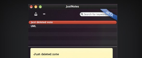 View Information about Just Notes