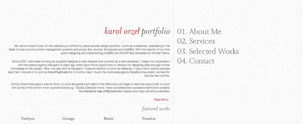 View Information about Karol Orzel