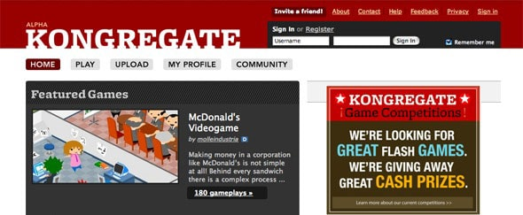 View Information about Kongregate