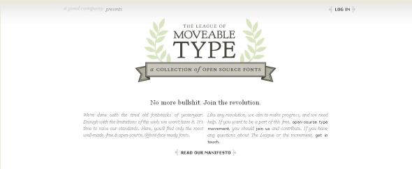 Go To The League of Moveable Type