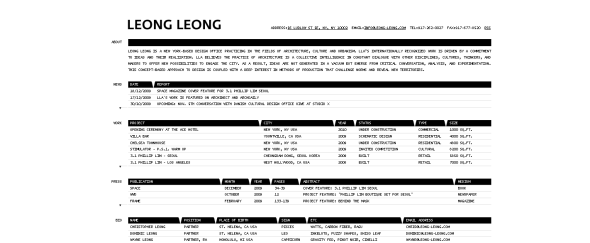 View Information about Leong Leong