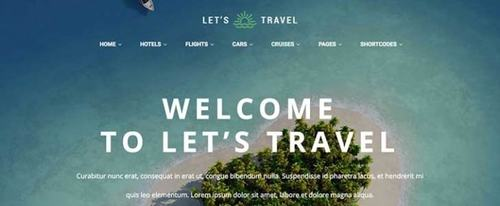 View Information about Lets Travel Theme