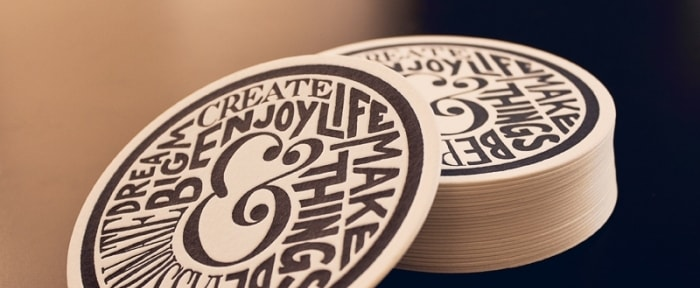 Go To Letterpress Coaster