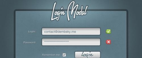 View Information about Login Modal Window