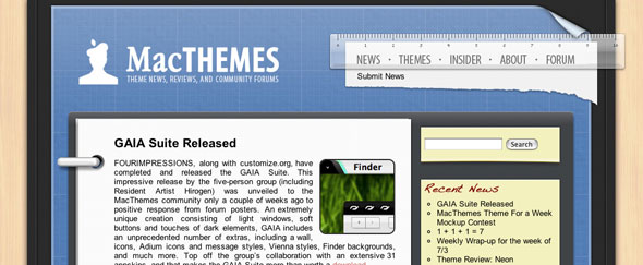View Information about Mac Themes 2