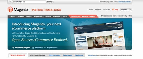 View Information about Magento Commerce