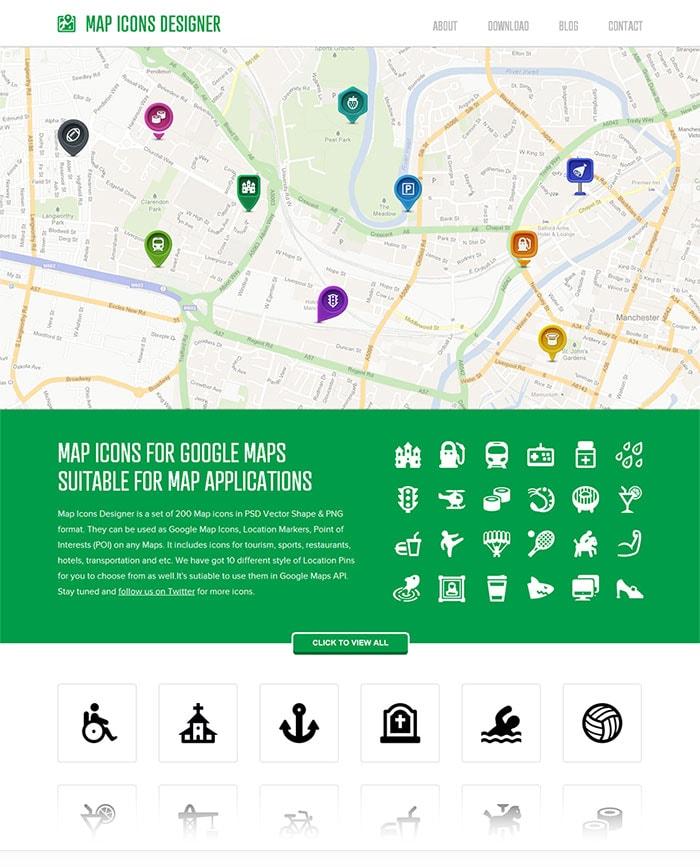 Go To Map Icons Designer