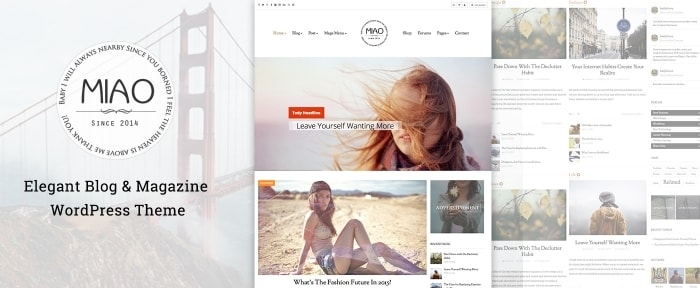 View Information about Miao WordPress Theme