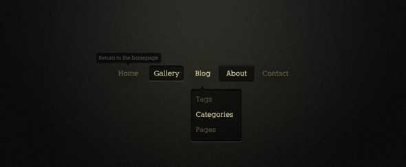 View Information about Minimalist Horizontal Navigation