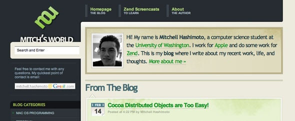 View Information about Mitchell Hashimoto