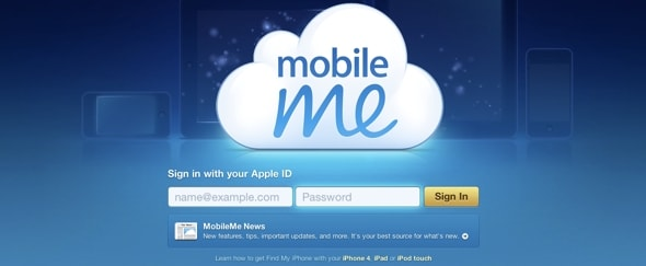 View Information about MobileMe