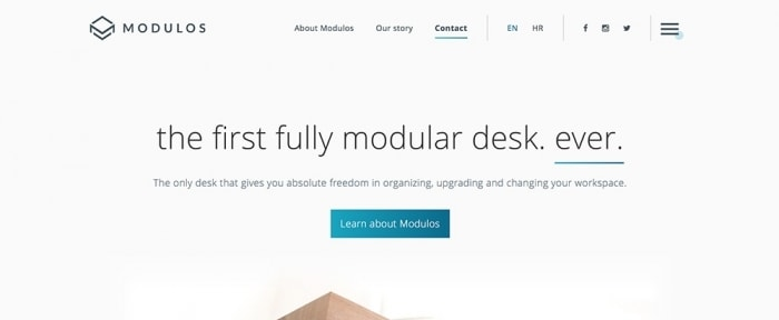View Information about Modulos Desk